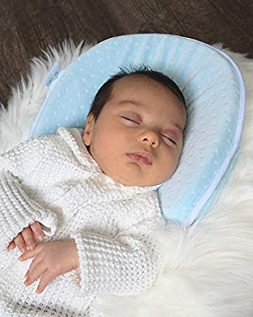 Baby Pillow Pillowcase Newborn Flat Head Baby Pillow Made of Soft Memory Foam for Head Shaping Flat Head Syndrome Prevention /& Acid Reflux Head Support
