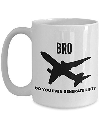 Bag Air Crew Force - Pilot Mug | Funny Gift Airplane Aviation Coffee Tea Cup 11oz & 15oz, Do You Even Lift? (15oz)