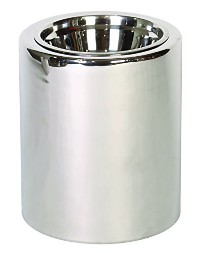 Unleashed Life High-Rise Nickel Raised Feeder, Large by Unleashed Life