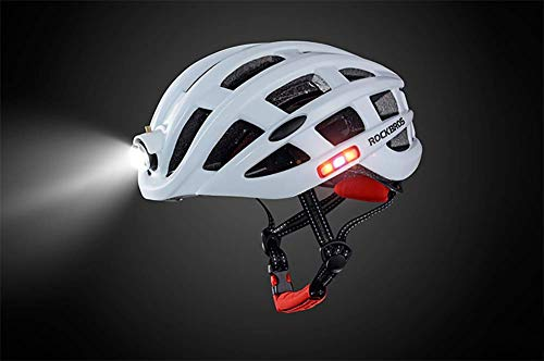 Lxhff Motorcycle Helmet with The Bicycle Warning Light Emitting Insect Mountain Road Men Riding Breathable Helm,Blue (Color : Yellow) from Lxhff