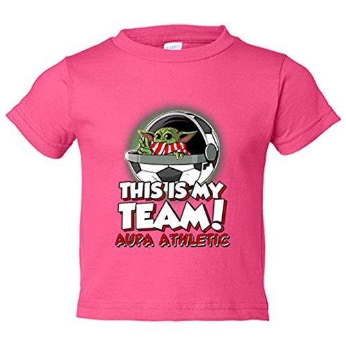 Camiseta niño parodia baby Yoda mi equipo de fútbol de Bilbao Aupa ...