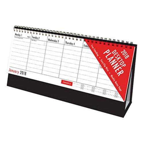 Tallon 2018 Red And Black Desktop Flip Calendar (One Size) (Black)