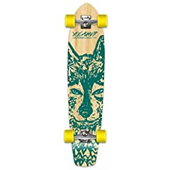 This unique Pintail longboard shape is constructed to help the rider to cruise, commute, and have an easy ride. The durable aluminum trucks are mounted under the board, and have enough clearance around the nose and tail of the longboard to co...