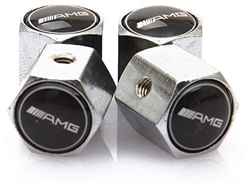 TGH Kit de Capuchon de Valve avec Logo ////// AMG Mercedes Benz Sport syst/ème antivol de Couleur Argent