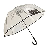 X-brella Womens/Ladies Cat Face Umbrella (One Size) (Black Cat)