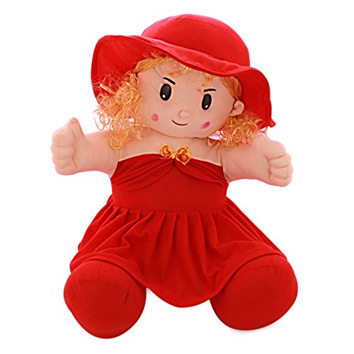 Sana Sitting Doll Red with Hair cm 30