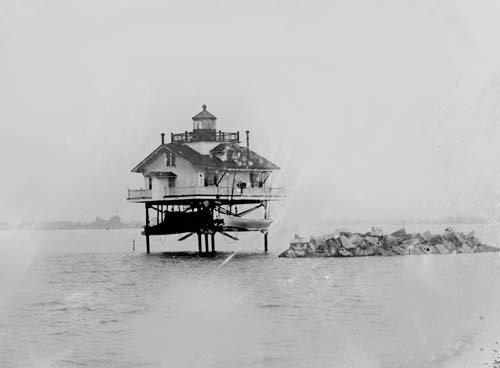 Photo Lighthouse Station Colonial Beach Virginia c1930