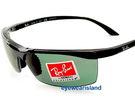 Image Unavailable. Image not available for. Colour  New Rayban Rb 4080  601 9A Black Frame Ray Ban Sunglasses Polarized Polar Green Lens 07c71f7a4bb9