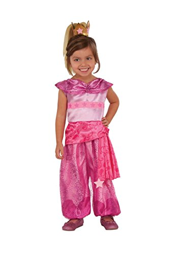 Rubies Costume Child's Shimmer and Shine Leah Costume, Small, Multicolor (Pink Genie Costume)