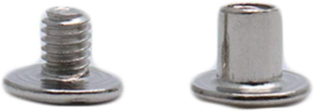 ZXHAO M5 Chicago Binding Screws Sex Bolt Barrel nut Barrel Bolt Post Screw 100pcs 5x6