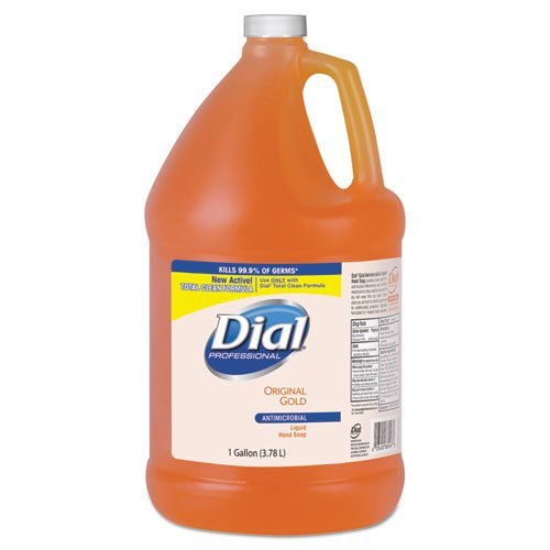 Wholesale CASE of 10 - Dial Corp. Antibacterial Liquid Soap Gallon Refill-Liquid Soap, Removes Dirt and Kills Germs, 1 Gallon