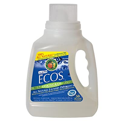 Earth Friendly Products Proline PL9756/08 ECOS Lemongrass Scented Liquid Laundry Detergent, 50oz Handle Bottles (Case of 8)