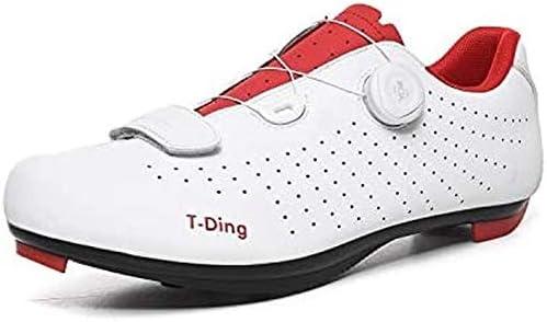 YUQQZ 1 Paire Chaussures de Cyclisme,Chaussures de vélo de Route pour Hommes et Femmes Chaussures de vélo de Montagne Professionnelles antidérapantes/Grille Respirante (44,D)