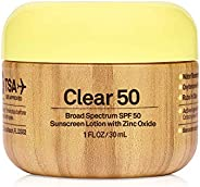 Sun Bum Original SPF 50 Clear Sunscreen with Zinc   Vegan and Reef Friendly (Octinoxate & Oxybenzone Free)