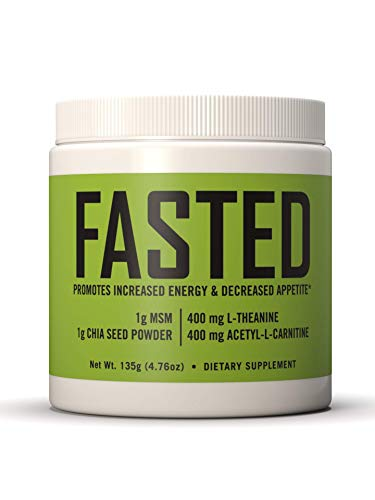 FASTED Intermittent Fasting Supplement, Dietary Appetite Suppression, 4.76oz of Water Soluble Powder, 30-Day Supply