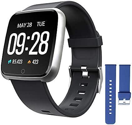 ZKCREATION Smartwatch, Reloj Inteligente Pulsera Actividad con Pulsómetro Podómetro Calorias Monitoreo del sueño Impermeable Reloj Inteligente Mujer ...