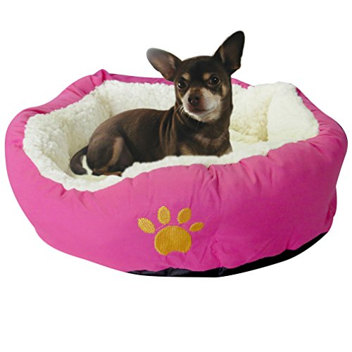 Evelots Small Round Pet Bed For Cats & Dogs,17.5