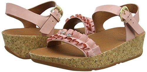 strap Pink 535 Ruffle Rosa Donna dusky Sandali Back Fitflop Sandals ROEw6x7Eq
