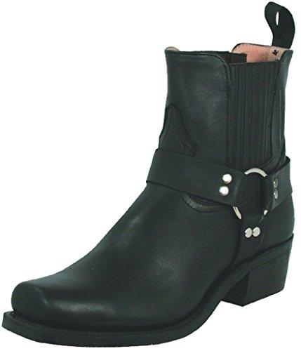 cle Boot Square Toe Black 8.5 D(M) US (Boulet Mens Medium Square)