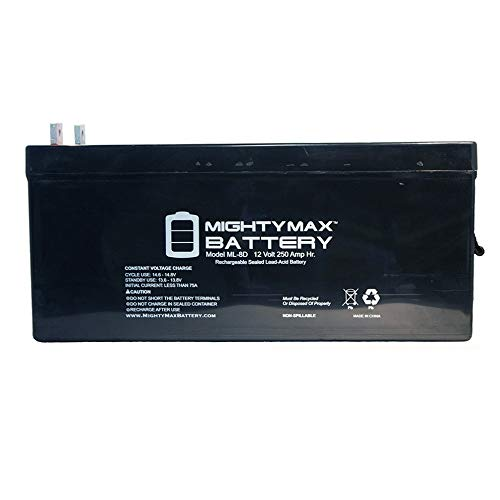 - Mighty Max Battery Sealed Lead-Acid Battery - AGM-Type, 12V, 250 Amps Brand Product