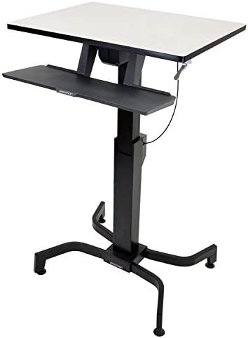 Ergotron WorkFit-PD Sit-Stand Desk with 19.5-Inch Height Adjustment