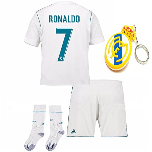 130eda7d125 Real Madrid Kid Youth C. Ronaldo 2017 2018 17 18 Soccer Home Jersey Kit