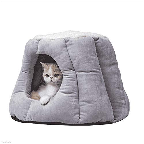 猫のトイレ猫の家半密閉猫寝袋猫の家猫のベッド冬暖かい深い眠り猫のトイレ砂 (Color : M) M
