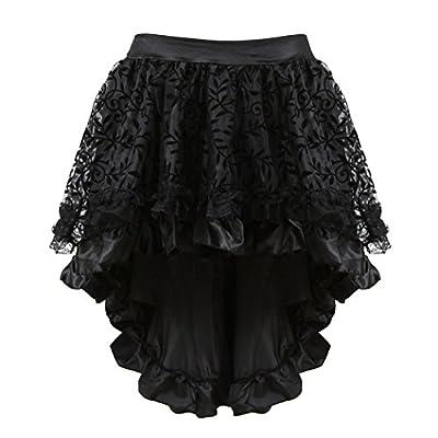 Tonight_Corset Womens Corset Peacock Burlesque Skirt Lace Up Boned Bustier Waist Trainer Lingerie Sets