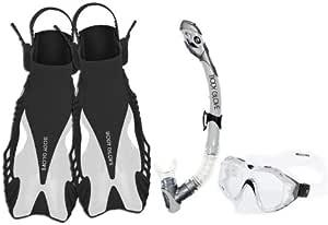 JetPilot Body Glove Adult Cirrus Purge Pro Fins Set Snorkel Mask