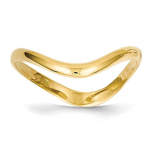 Roxx Fine Jewelry Thumb Ring 14K Yellow Gold 3mm Wave Stackable White and Rose Gold Available K4595 by Roxx Fine Jewelry (Image #5)