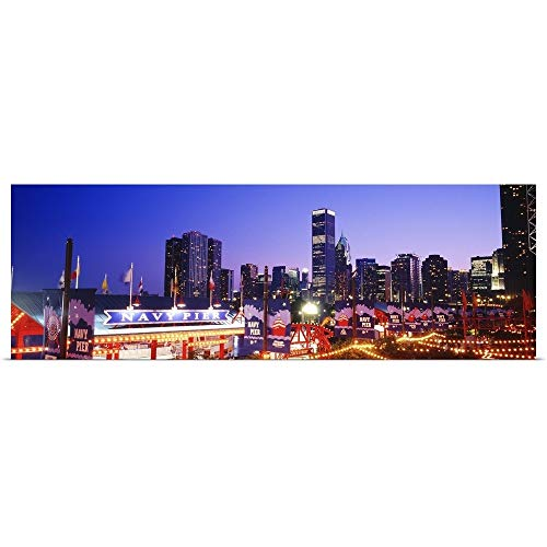 GREATBIGCANVAS Poster Print Entitled Navy Pier Chicago IL by 48