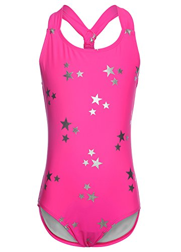 LEINASEN One Piece Bathing Suits for Girls, Kids Racer Back Stars ()