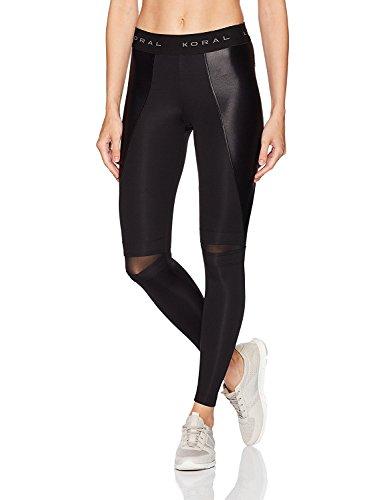 KORAL ACTIVEWEAR Women's Slit Legging Black M [並行輸入品]