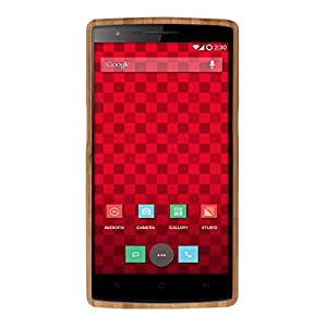 Sandistore Genuine Natural Bamboo Wood Dandelion Pattern Case Cover for Oneplus A0001
