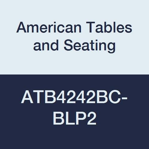 American Tables & Seating ATB4242BC-BLP2 Vinyl Bullnose T-Molding Laminate Table Top, Special Corner Booth Cut, Polyethylene T-Molding, Wilsonart Premium 2 Laminate, 42