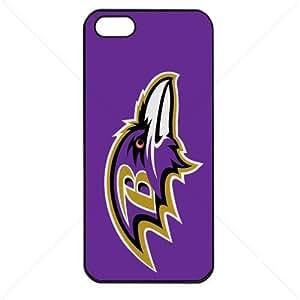 NFL American football Baltimore Ravens Fans Apple iphone 6 4.7 TPU Soft Black or White case (Black)