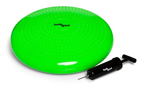 BodyGood Balance Disc Versatile Wobble Cushion Strengthens Body and Core Through Destabilization Exercises. Use on Office Chair to Improve Posture and Back Pain or for Kids Classroom Chair.