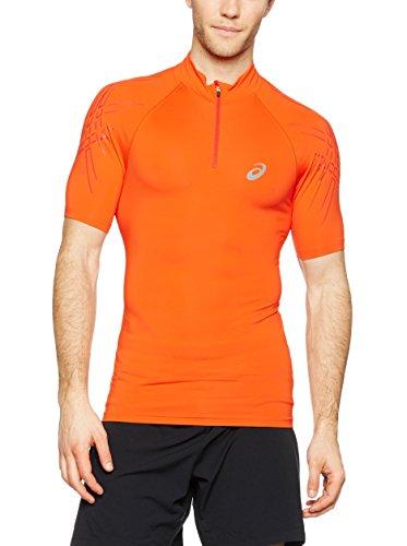 Asics - IM 1/2 Zip T-shirt de running pour hommes (rouge) - L