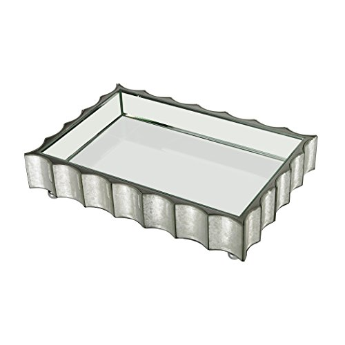Large Scalloped Edge Mirror Tray by AR Lighting