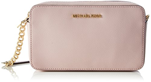 Michael Michael Kors Women's Michael Kors Jet Set Travel Pink Leather Pochette Pink by MICHAEL Michael Kors
