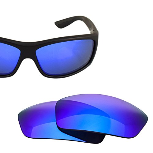 LenzFlip Replacement Lenses for Costa del Mar SALTBREAK Sunglass Frames - Gray Polarized w/ Blue - Clear Costa Frames Sunglasses