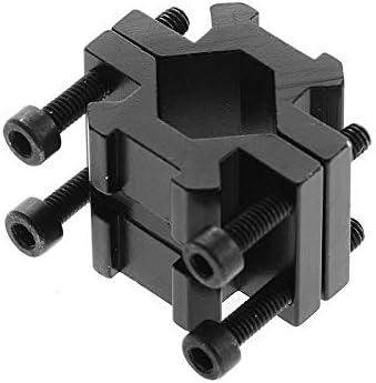 WQ-HUNTING, Accesorios de Caza Riel Doble 20 mm Picatinny/tejedor Rail Barrel Adaptador de Montaje para Rifle Bipod Laser Linterna