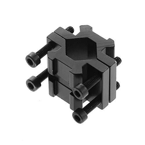 WQ-HUNTING Accessoires de Chasse Double Rail 20mm Picatinny//Weaver Rail Adaptateur de Montage de Canon pour Fusil Bipod Laser Flashlight