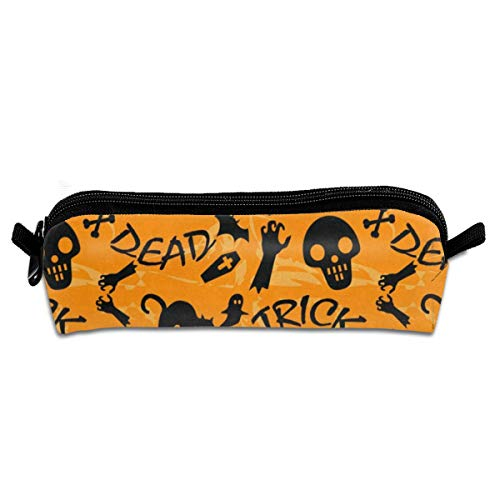 MISSMORN Pencil Case Bag Happy Halloween Trick Or Treat Pen Organizer Pouch Holder Protective Storage Container Perfect Gift for Students & Artist -