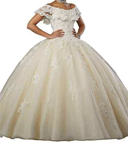 01faf5f028 MFandy New Sweetheart Girls 16 Quinceanera Dress Appliques Beaded Ball Gowns