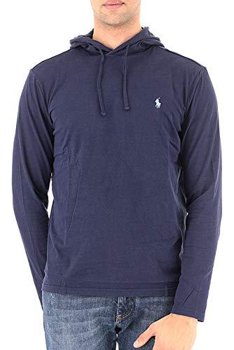 Polo Ralph Lauren Mens Jersey Knit Hoodie Tee (Newport Navy, -