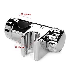 idealeben duschkopf schieber gleiter halter brausehalter stangengleiter f r duschstange 25 mm. Black Bedroom Furniture Sets. Home Design Ideas