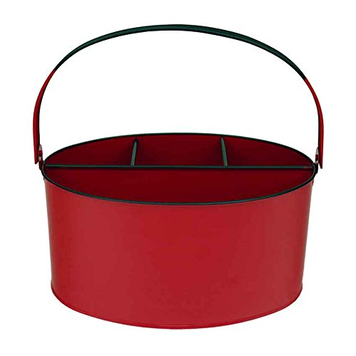 Kraft Klub, Inc. Fire Engine Red Enamel Oval Utensil Holder - 11
