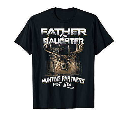 Father And Daughter Costume Ideas (Funny Gift Tee Father and Daughter Hunting Partners For Life)