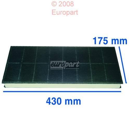 296178Carbon Filter für Dunstabzugshaube Fan 430x 175mm europart 776434812108